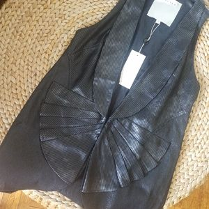 NWT Walter Baker Faux Leather Vest